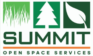 Summit open space services logo trees grass leaves