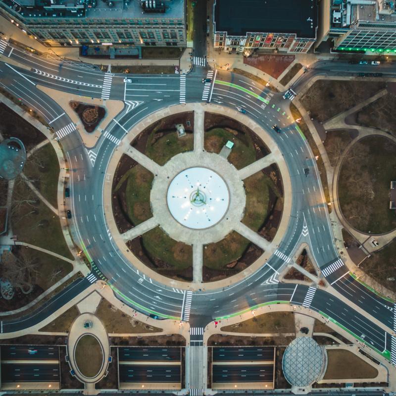 Logan Circle from above