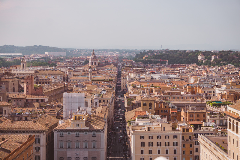 Hazy day over Rome