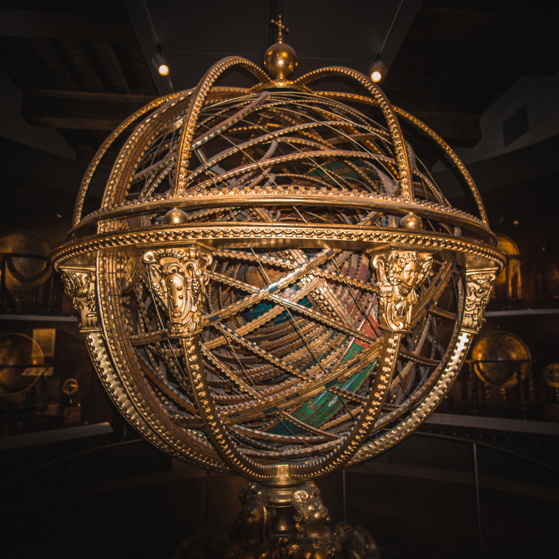 Armillary sphere made by Antonio Santucci from inside the Museo Galileo