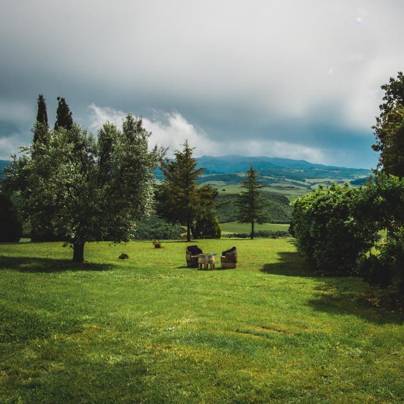 The view from Ciacci Piccolomini D'Aragona