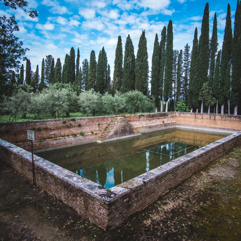 Water storage for Abbazia di Monte Oliveto Maggiore