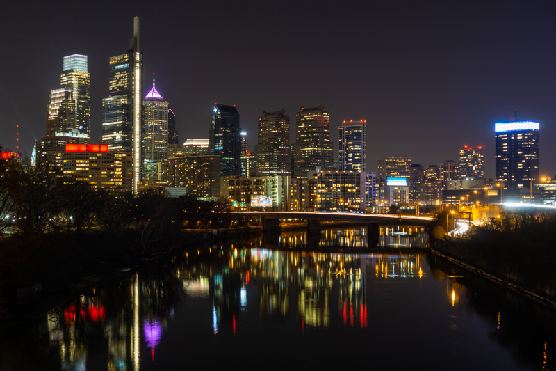 Night in Philly from the Spring Garden bridge 12/8/2018