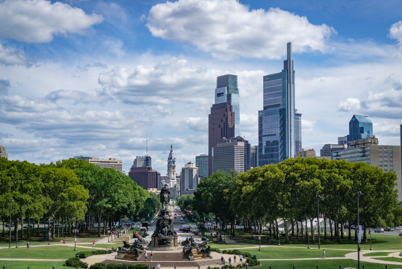 The classic Philly skyline shot from the Art Museum 8/25/2018