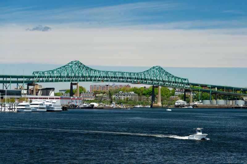 Maurice J. Tobin Bridge in Fenway Green