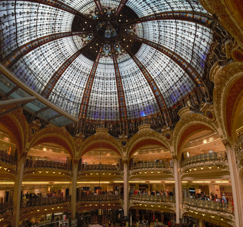 The chic Galeries Lafayette with lots of high end stores