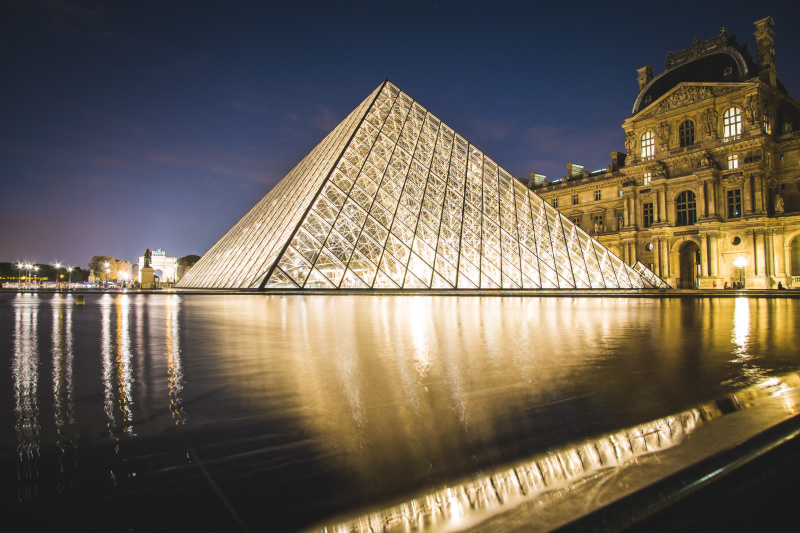 The sparkling Louvre