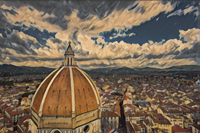 Florence Duomo in the style of Edtaonisl - Francis Picabia