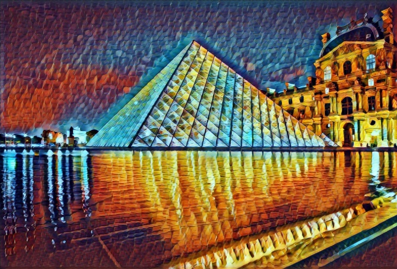 The Louvre in the style of Rain Princess