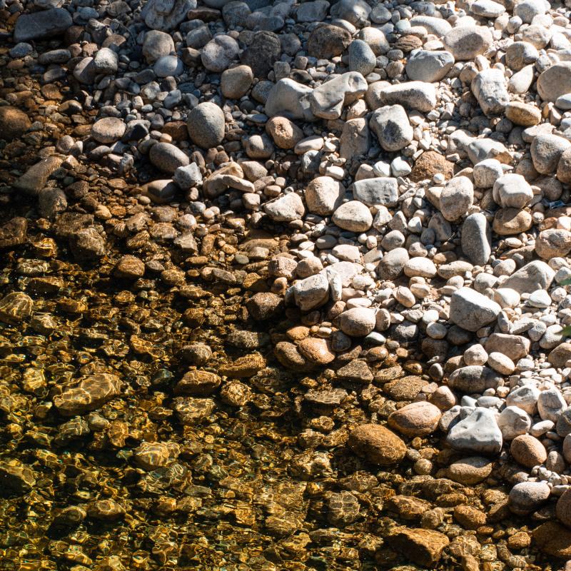 River Rocks Abstract