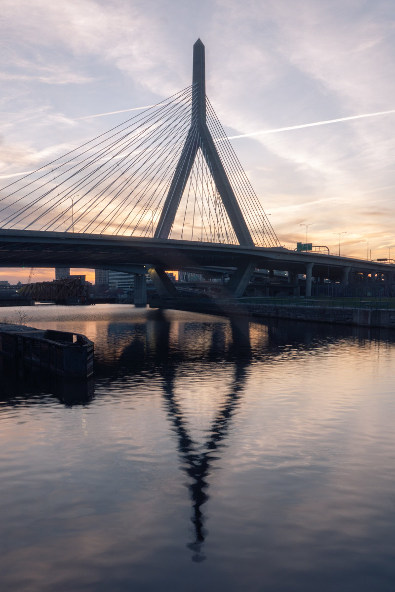 The Leonard P. Zakim Bunker Hill Memorial Bridge in peak form