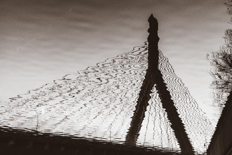 Reflections of the bridge