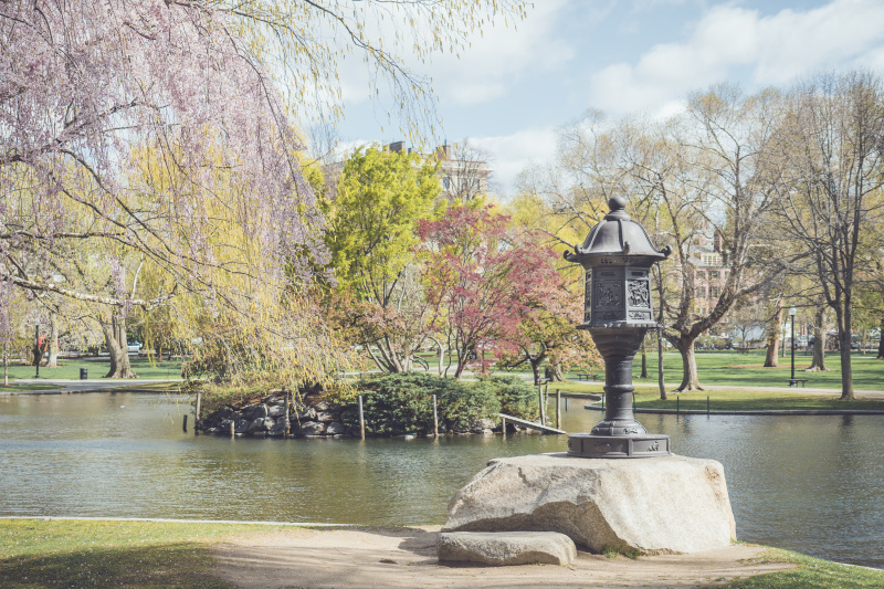 The public gardens wrapped in spring colors