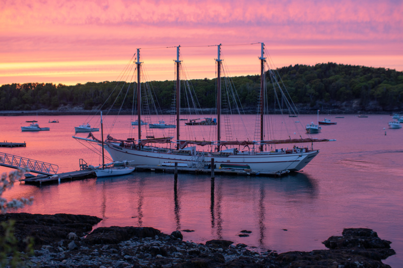 The Margaret Todd at sunset