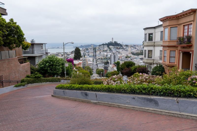View from the top of Lombard Street