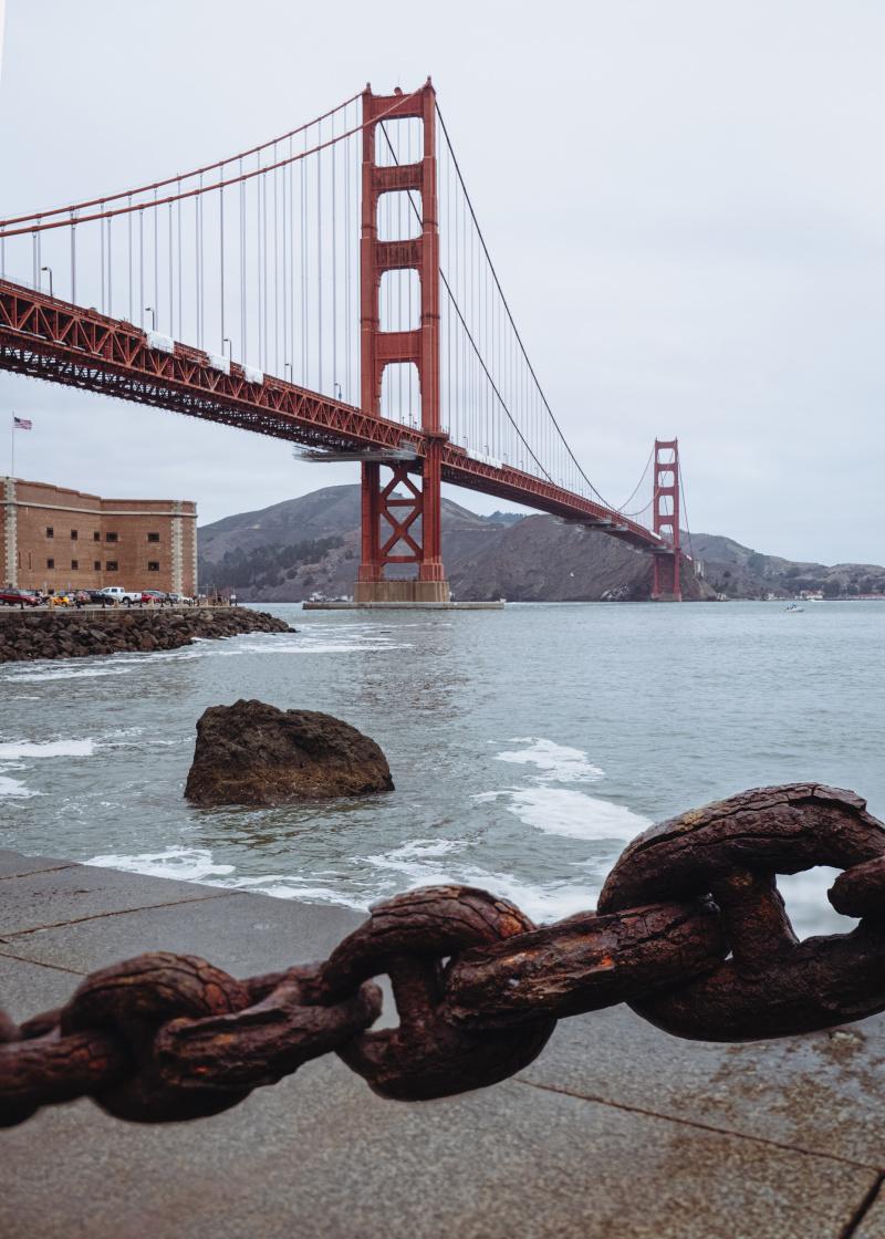 Golden Gate Bridge and chain