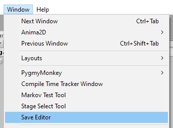 Unity SaveEditor Menu