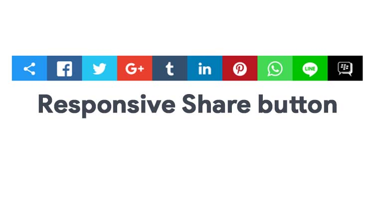 CSS Only Responsive Social Share Buttons For Blogger