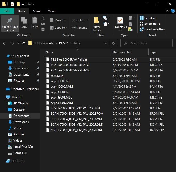 PCSX2 BIOS Preview