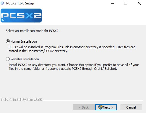 PCSX2 Install Preview
