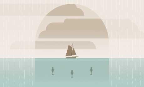Pria kekar di Laut