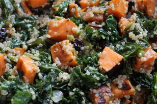Grilled Sweet Potato and Quinoa Salad