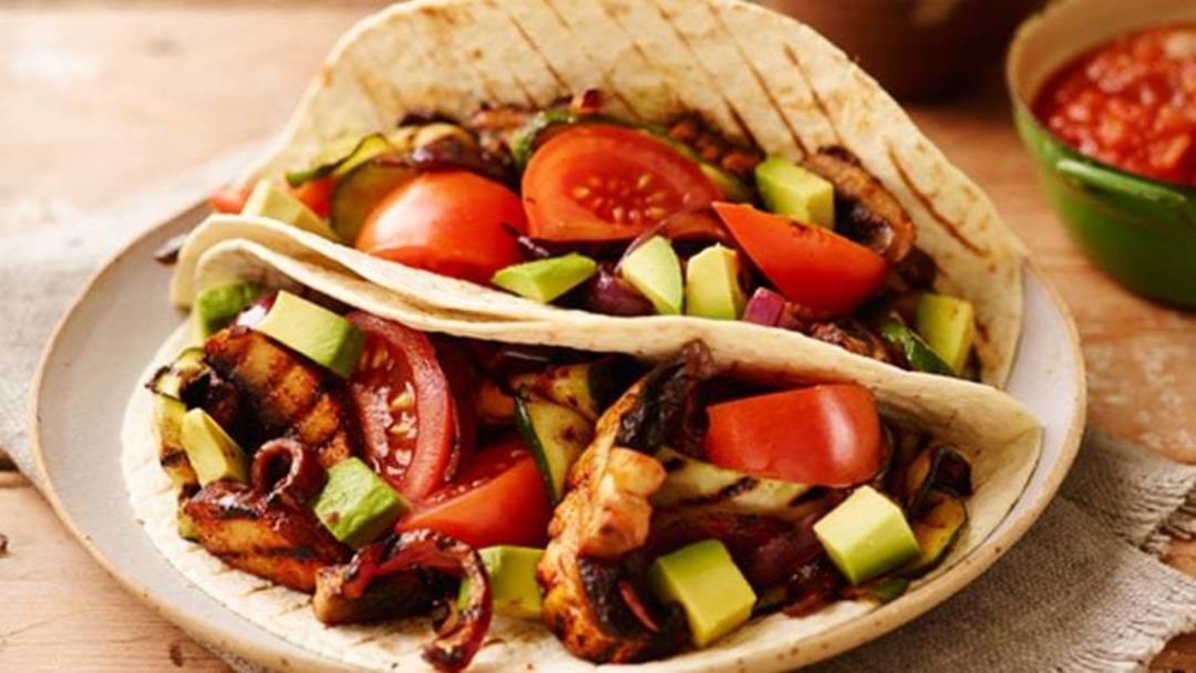 Chargrilled vegetable taco