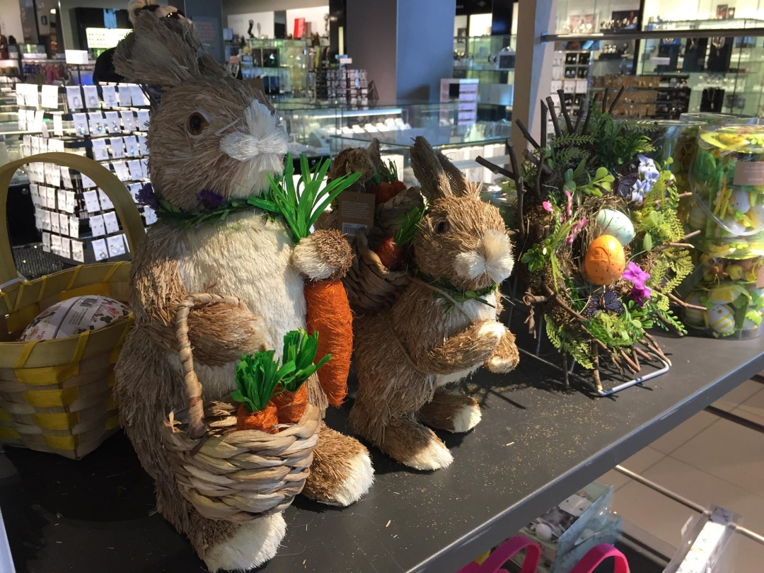 John Lewis Straw Rabbit With Basket