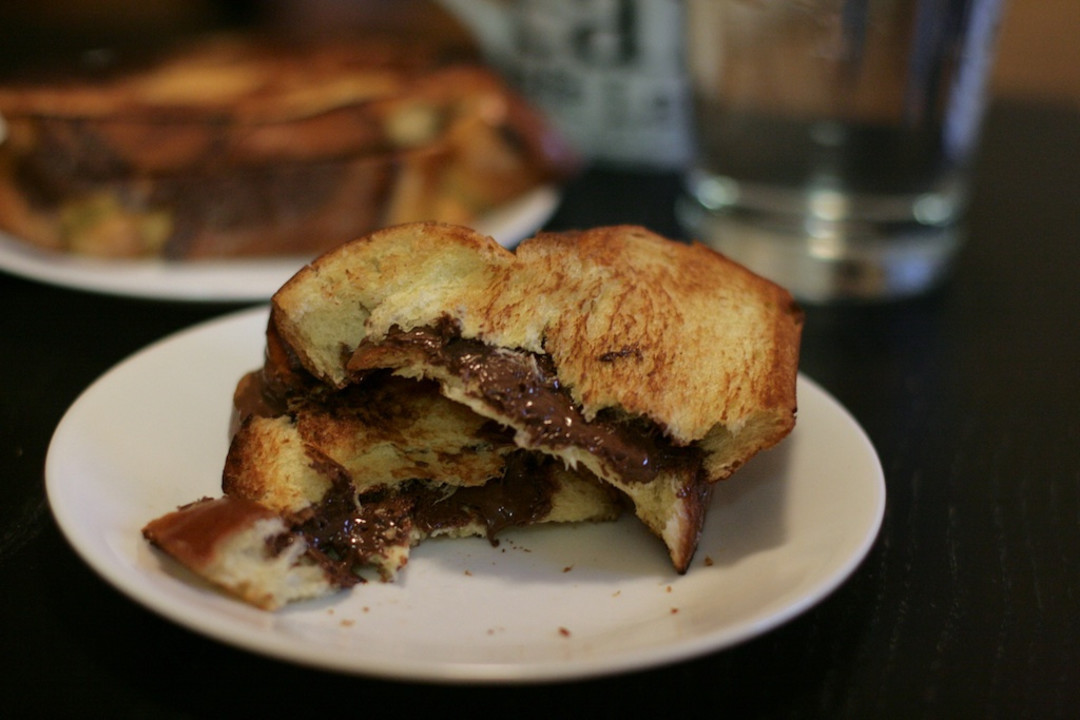 Grilled Nutella Banana Sandwich