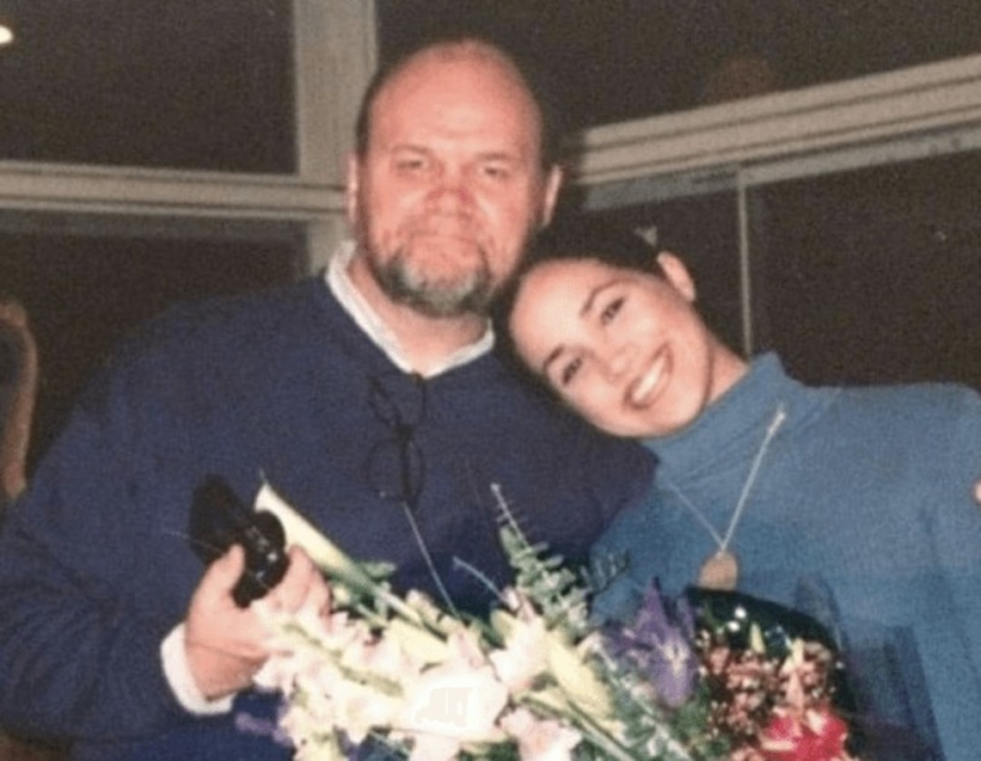 Meghan Markle with her father