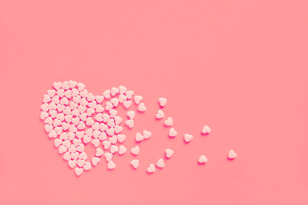 Bigstock Pink Heart Shaped Candies On A 278905567