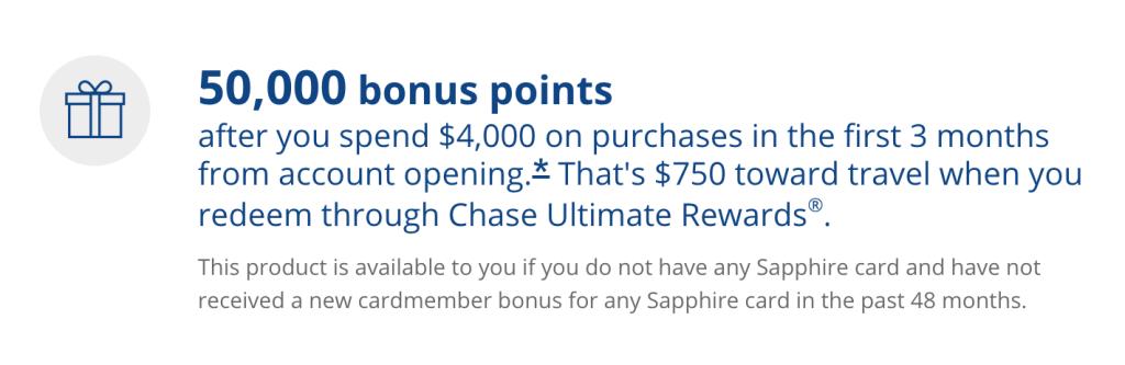 Bonus offer for the Chase Sapphire Reserve, as of November 16, 2020