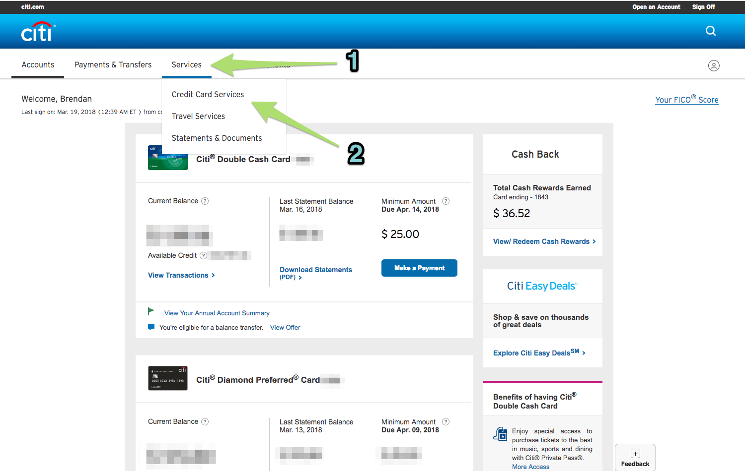 Requesting a credit line increase online with Citi (1)