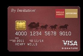Wells Fargo Advisors By Invitation® Visa Signature®