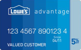 Lowe's Advantage Credit Card