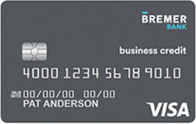 Bremer Bank Visa Signature Business Company Card