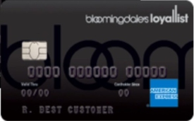Bloomingdale's American Express Card at the Top of the List