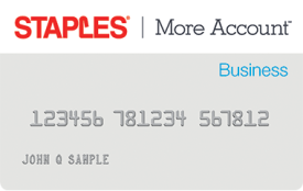Staples More Account Business Card