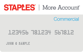 Staples More Account Commercial Card
