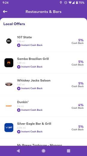 Local restaurants on Dosh