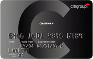 Citi Chairman Card.