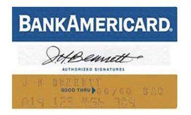 The original BankAmericard. Image credit: Logoblink