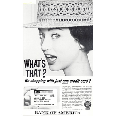 Early BankAmericard ad, from 1959. Image credit: Bank of America
