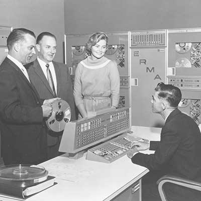The San Francisco ERMA center, 1961. Image credit: Bank of America