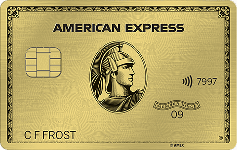 The American Express Gold Card (Review) features contactless technology.