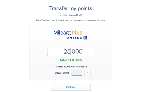 Chase Ultimate Rewards point transfer