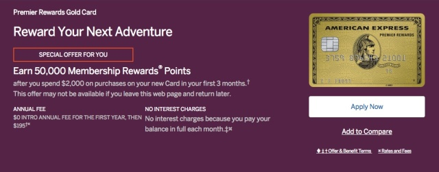 American Express PRG Private Offer