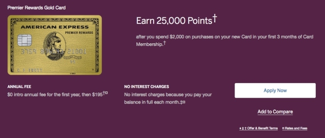 American Express PRG Public Offer