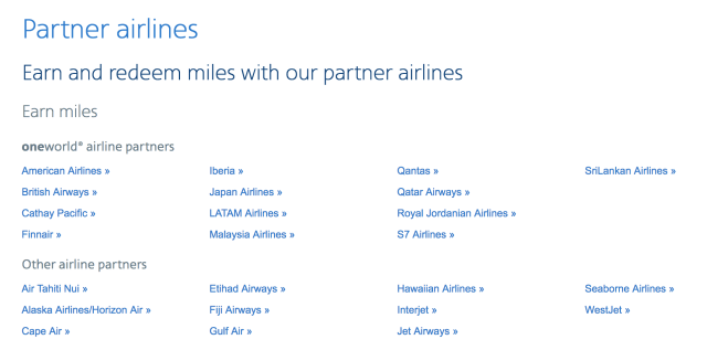 American Airlines partner airlines