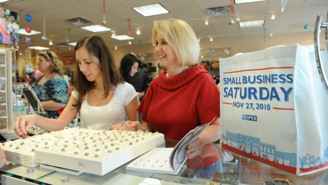The first Shop Small Saturday event in 2010. Image credit: American Express